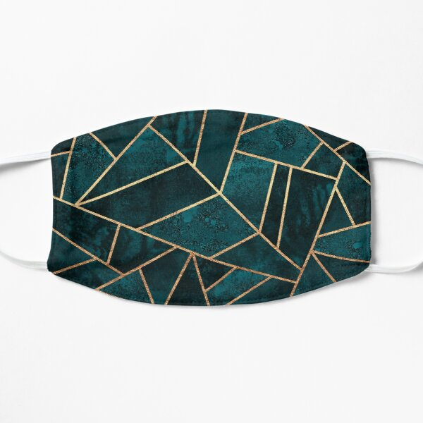 Deep Teal Stone Mask