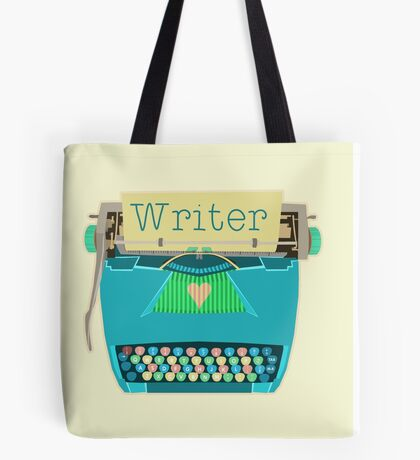 Writer Typewriter Tote Bag