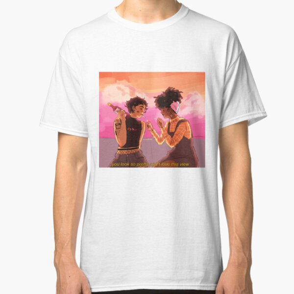 you look so pretty and i love this view Classic T-Shirt