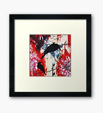 black birds 1 Framed Print