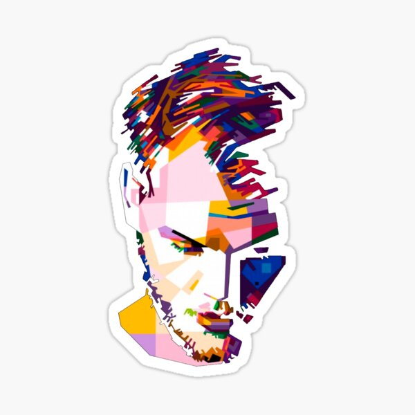 Avicii Portrait Shaded Sticker