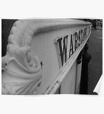 Warstone Lane - Old Street Sign Poster