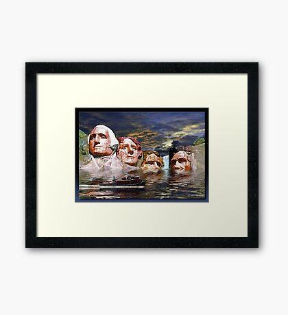 Rushmore 2032 Framed Print