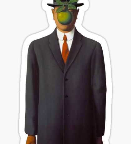 René Magritte - The Son of Man Sticker