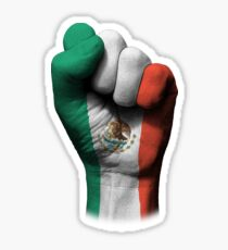 Flag of Mexico on a Raised Clenched Fist  Sticker