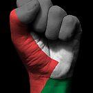 Flagge von Palästina auf einer angehobenen geballten Faust von jeff bartels