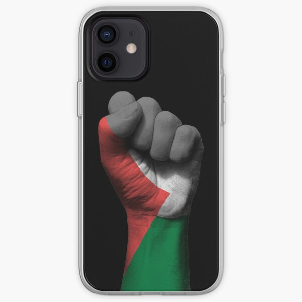 Flag of Palestine on a Raised Clenched Fist  iPhone Soft Case
