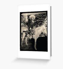 """1908 Photo of Francisco """"Pancho"""" Villa on Horseback Greeting Card"""