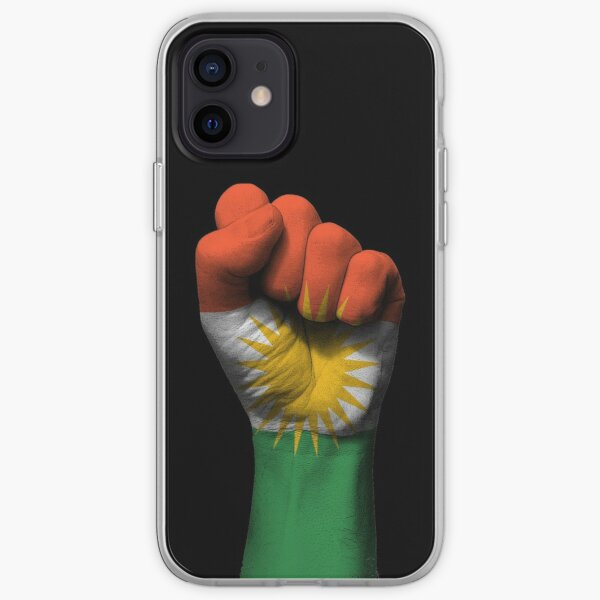 Flag of Kurdistan on a Raised Clenched Fist  iPhone Soft Case