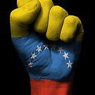 Flagge von Venezuela auf einer angehobenen geballten Faust von jeff bartels