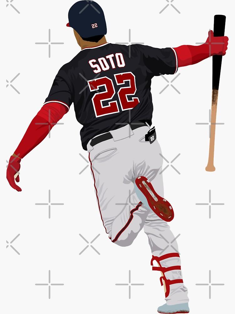 Juan Soto World Series Bat Drop by devinobrien