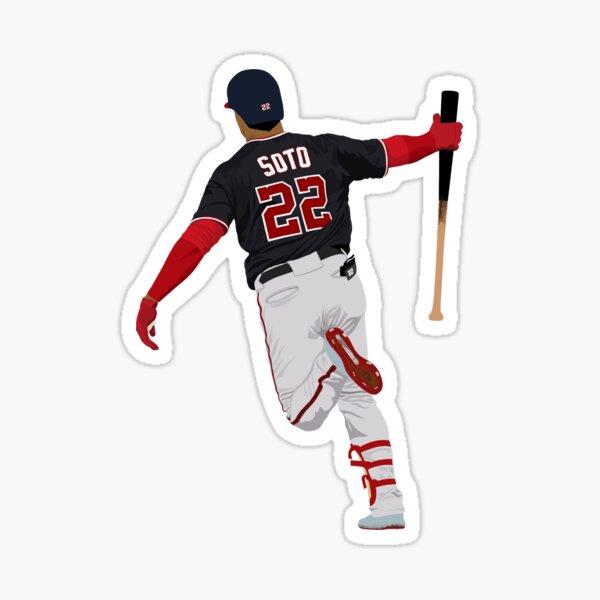Juan Soto World Series Bat Drop Sticker