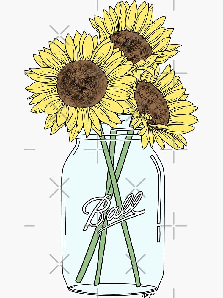 Mason Jar Sunflowers by jamiemaher15