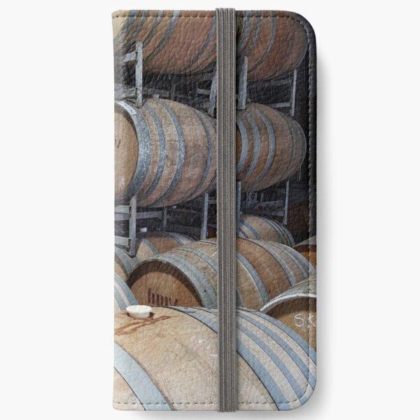 A Barrel of Fun - Adelaide Hills Wine Region - Fleurieu Peninsula - by South Australian artist Avril Thomas iPhone Wallet