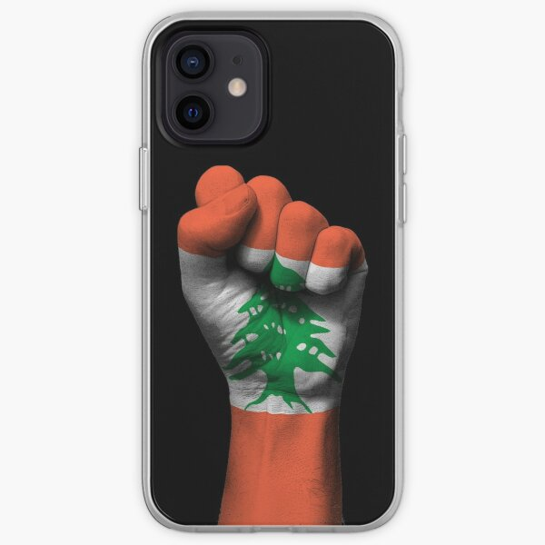 Flag of Lebanon on a Raised Clenched Fist  iPhone Soft Case