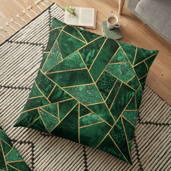 Deep Emerald Floor Pillow