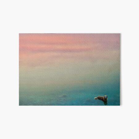 Hopper in the Clouds Art Board Print