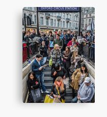 Delays at Oxford Circus Tube Station Canvas Print