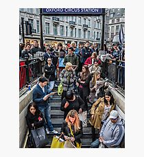 Delays at Oxford Circus Tube Station Photographic Print