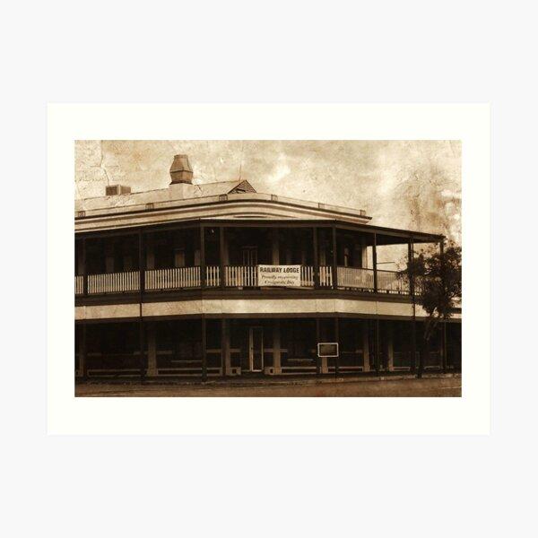 Railway Lodge Art Print