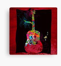 graphic guitar Canvas Print