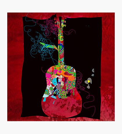 graphic guitar Photographic Print