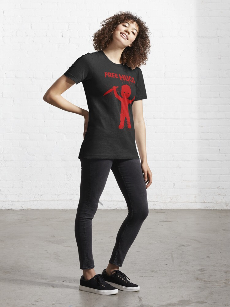 Alternate view of Horror Mashups: Free Hugs  Essential T-Shirt