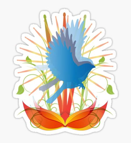 Abstract Robin  Sticker