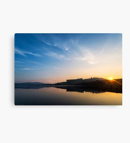 Clatteringshaws Dam at Sunrise Canvas Print