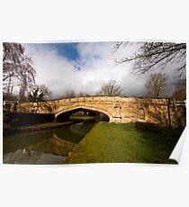 Solomon's bridge, Cosgrove, Northamptonshire Poster