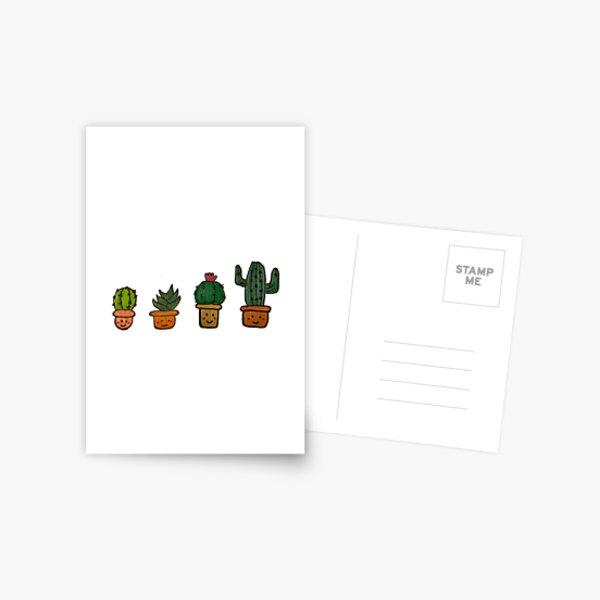 Cacti Characters Postcard