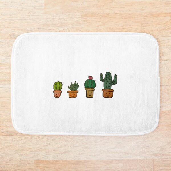 Cacti Characters Bath Mat