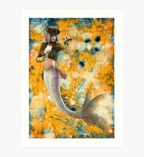 Steampunk Mermaid Art Print