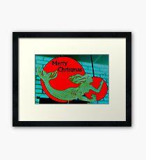 Christmas Mermaid - Merry Christmas Framed Print