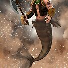Barbarian Merman by InfinityRain