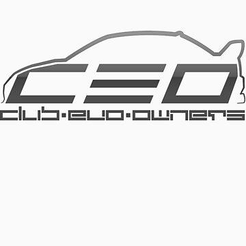 Club Evo Owners - Regular Logo (Gun Metal) by jamezluv