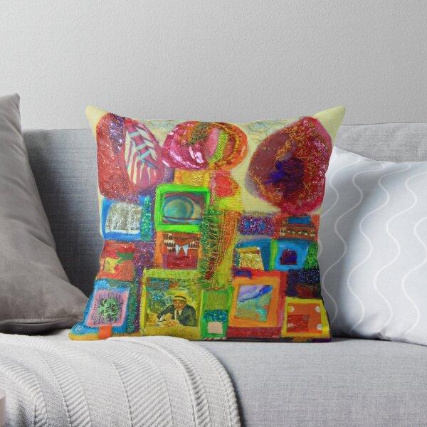 Hundertwasser domes Throw Pillow