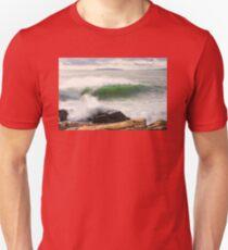 Large Crashing Waves Acadia National Park T-Shirt