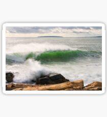 Large Crashing Waves Acadia National Park Sticker