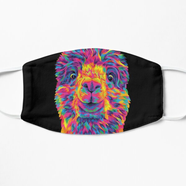 Silly Rainbow Alpaca Mask