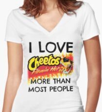 Hot Cheetos Women's Fitted V-Neck T-Shirt