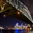 Bright Lights of Sydney Harbour by Andrew  MCKENZIE