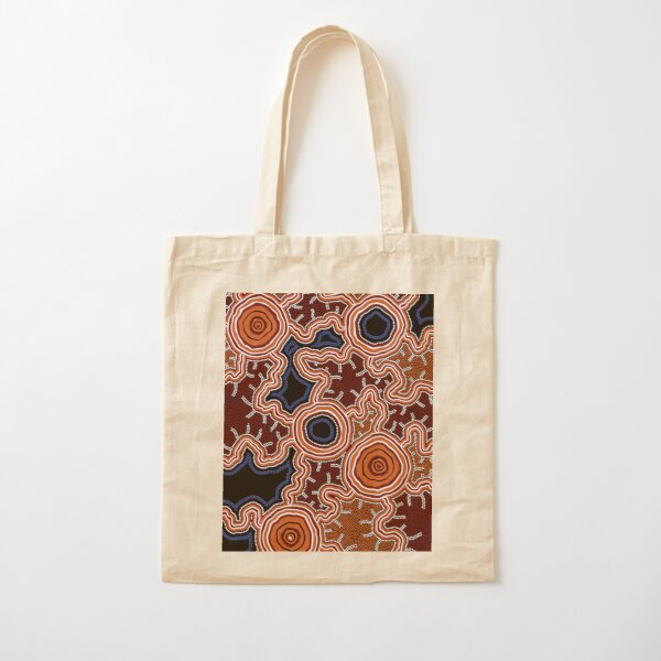 Authentic Aboriginal Art - Pathways to Water Cotton Tote Bag