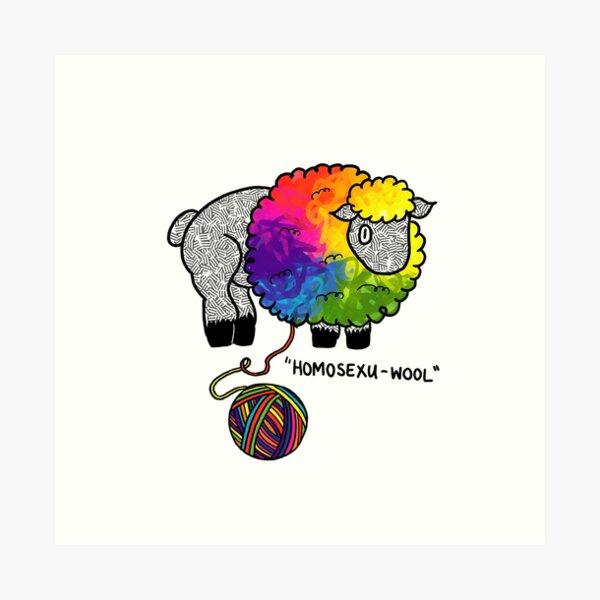 Homosexu-wool Sheep!  Art Print