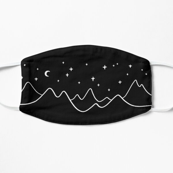 Simple Mountains and Stars Flat Mask