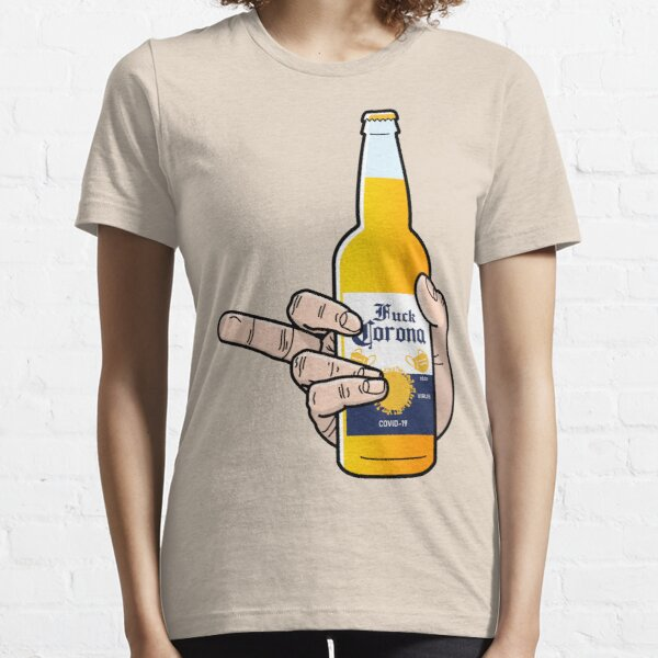 Middle Finger to the Virus Essential T-Shirt