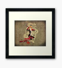 Molotov War Pin Up Bombshell Framed Print