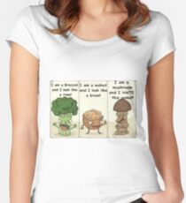 Eat your veggies Women's Fitted Scoop T-Shirt