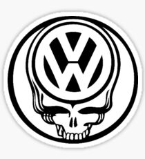 VW Dead Head black Sticker