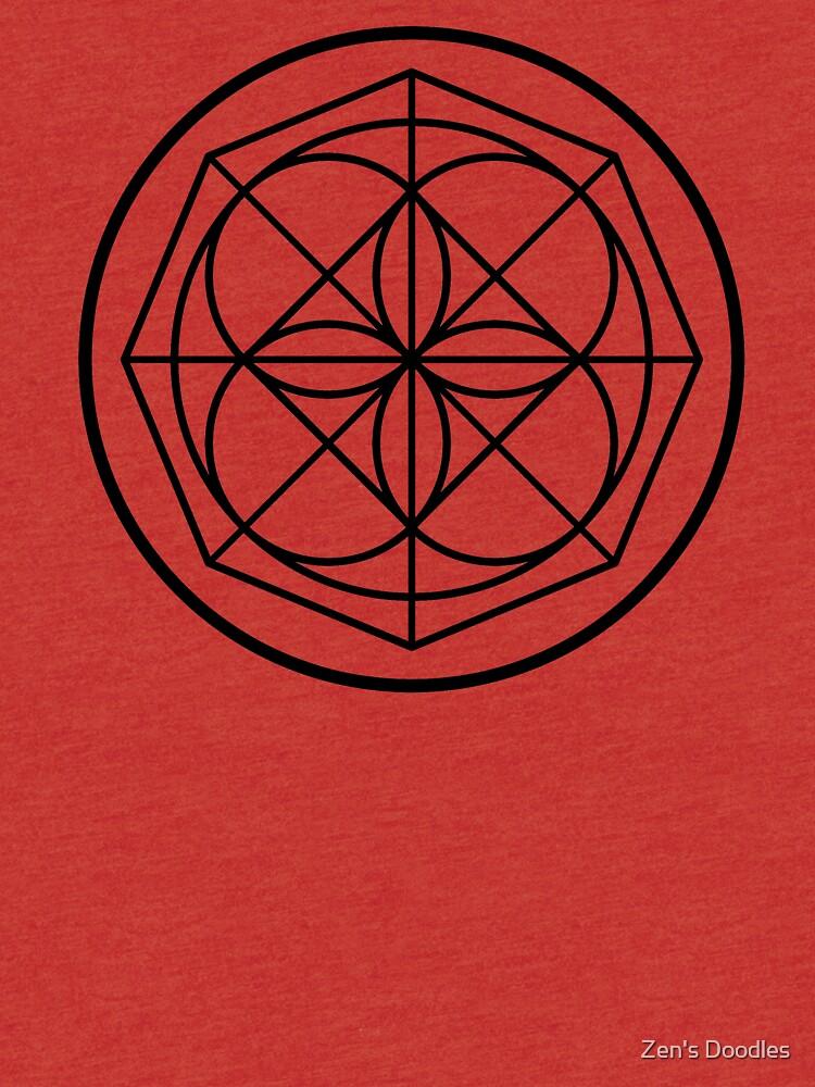 Kenpo Universal Pattern Tri Blend T Shirt By Onezenmom Redbubble